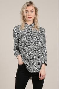 Molly Bracken Zebra Print Blouse