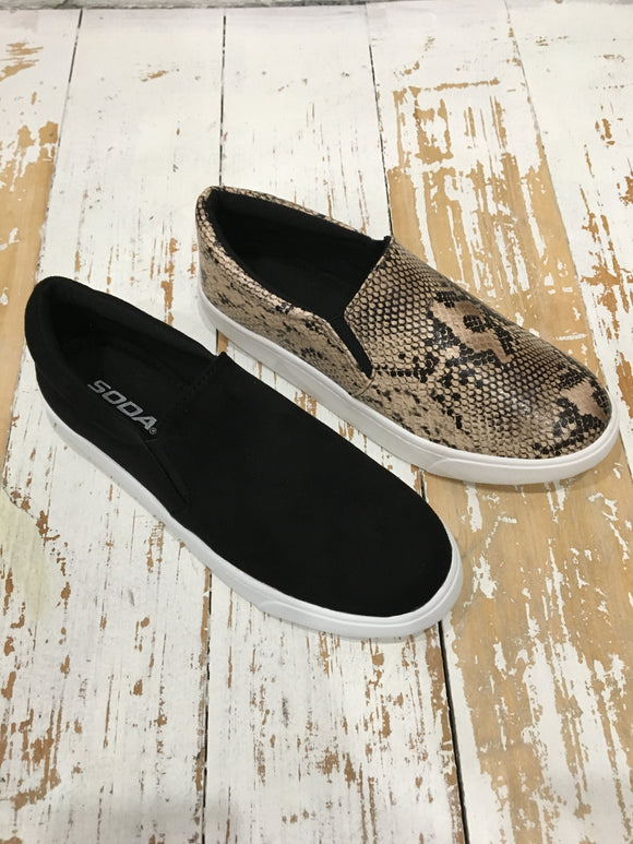 BK Brand Reign Slip-On Shoe (Snake or Black)