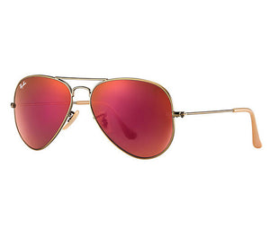Ray Ban Aviator Flash Matte Bronze Copper Red