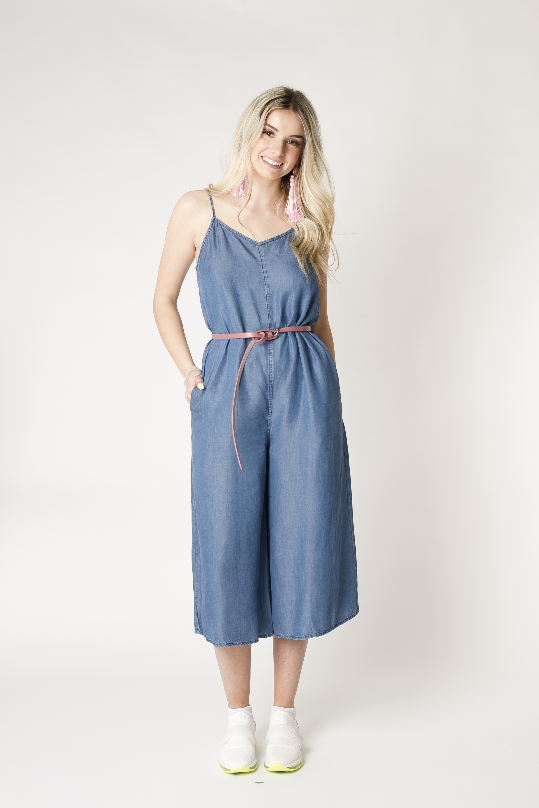 California Moonrise Chambray Romper