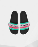 Hunter Women's Original Arrow Print Adjustable Slides: Ocean swell
