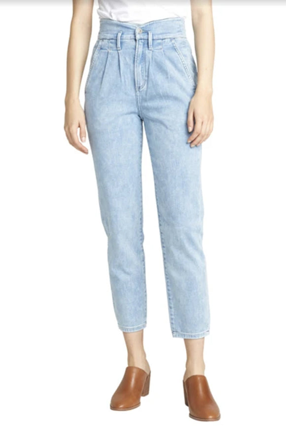 Silver Burnell High Waisted Tapered Jeans