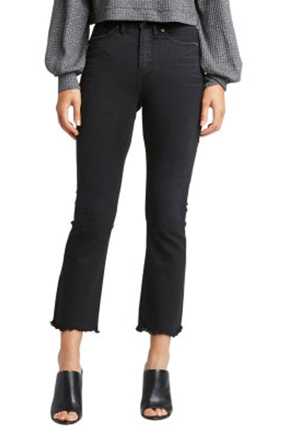 Silver Isbister Black High Waist Flare Jeans