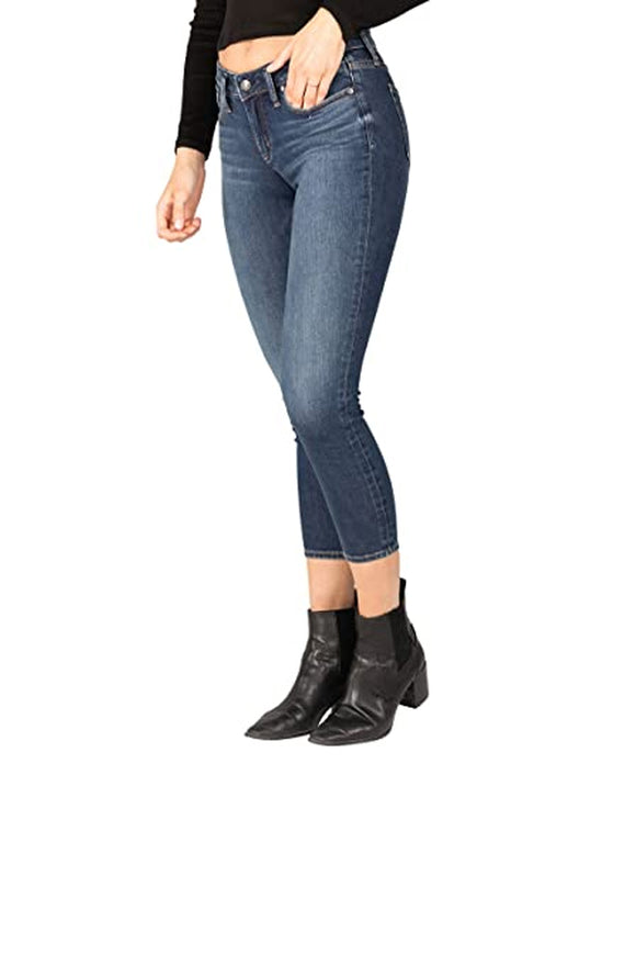 Silver Jeans Suki Mid-Rise Curvy Fit Skinny