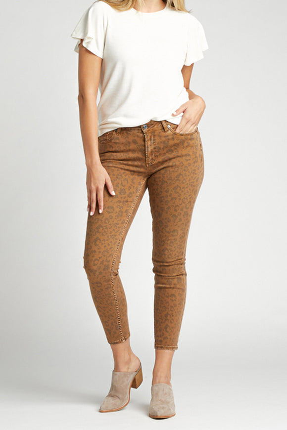 Silver Jeans Most Wanted Skinny Tan Leopard