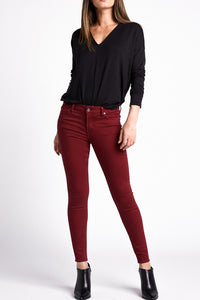 Silver Jeans Most Wanted Skinny Red