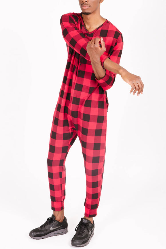 Smash and Tess Present Romper Men's - Poinsetta Plaid