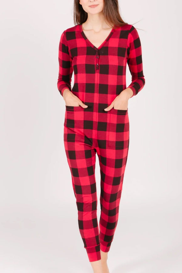 Smash and Tess Present Romper Women's- Poinsetta Plaid