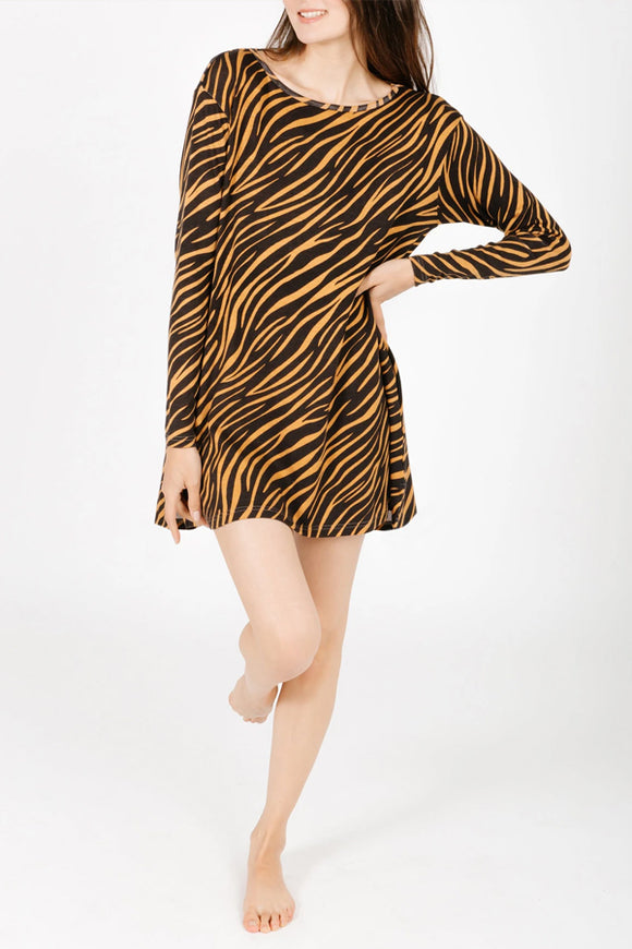 Smash and Tess Tiger Sweater-Weather Dress