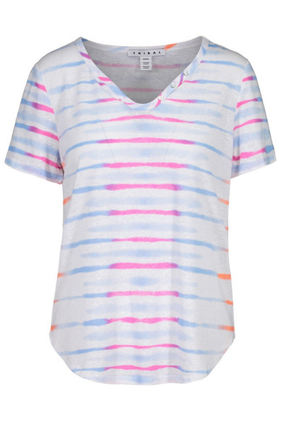 Tribal Short Sleeve Stripe Tee