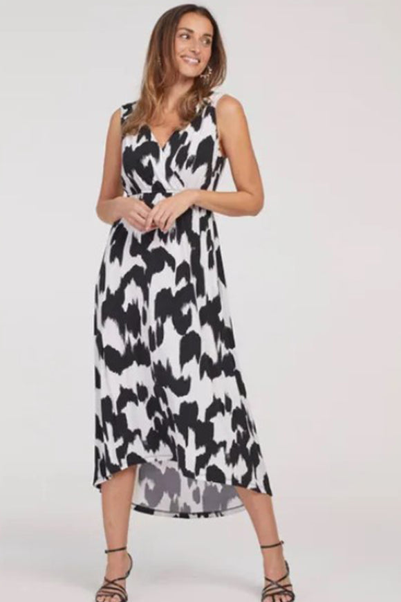 Tribal High Low Maxi Dress