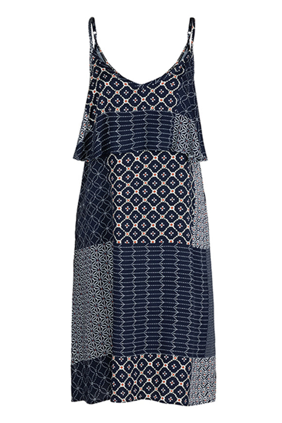Tribal Layered Patch Dress
