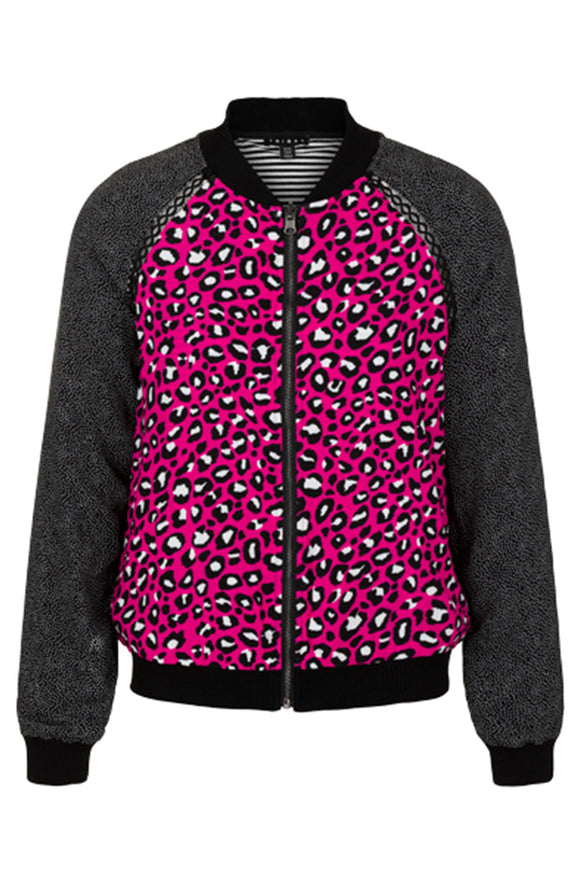 Tribal Reversible Hot Pink Leopard Jacket