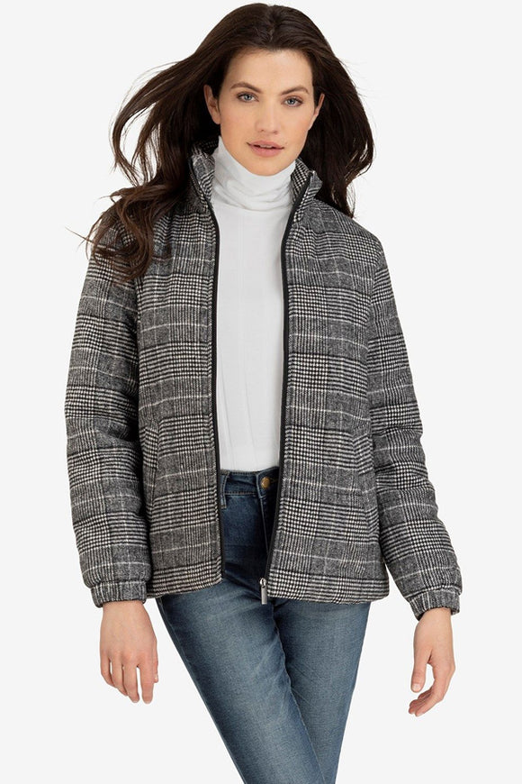 Tribal Plaid Puffer