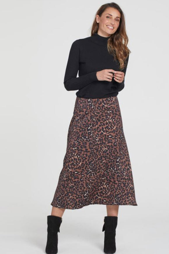 Tribal Long Leopard Skirt