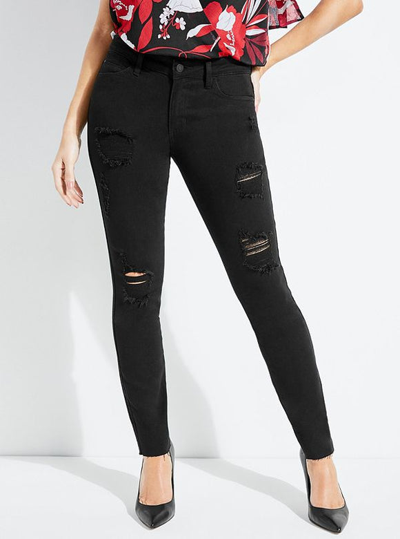 Guess Destroyed Sexy Curve Skinny Jeans