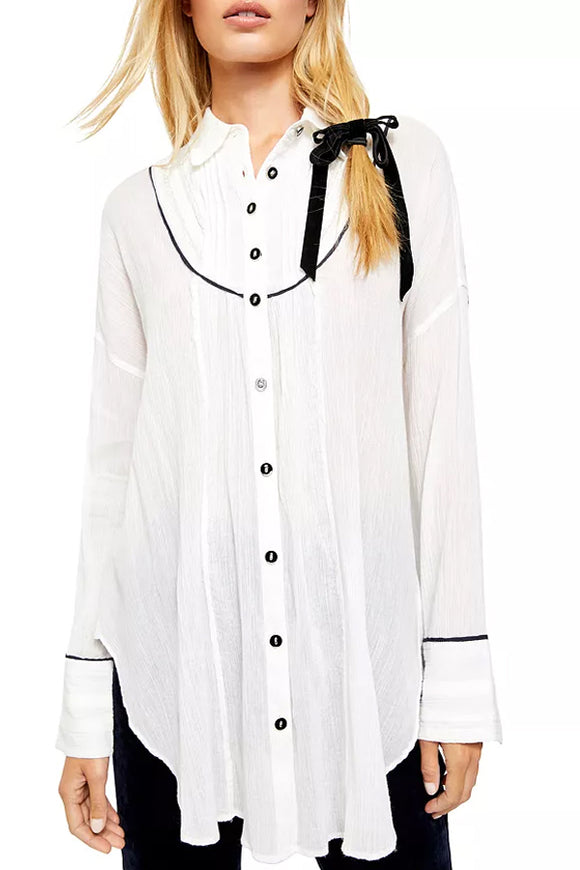 Free People Amore Piped Tunic