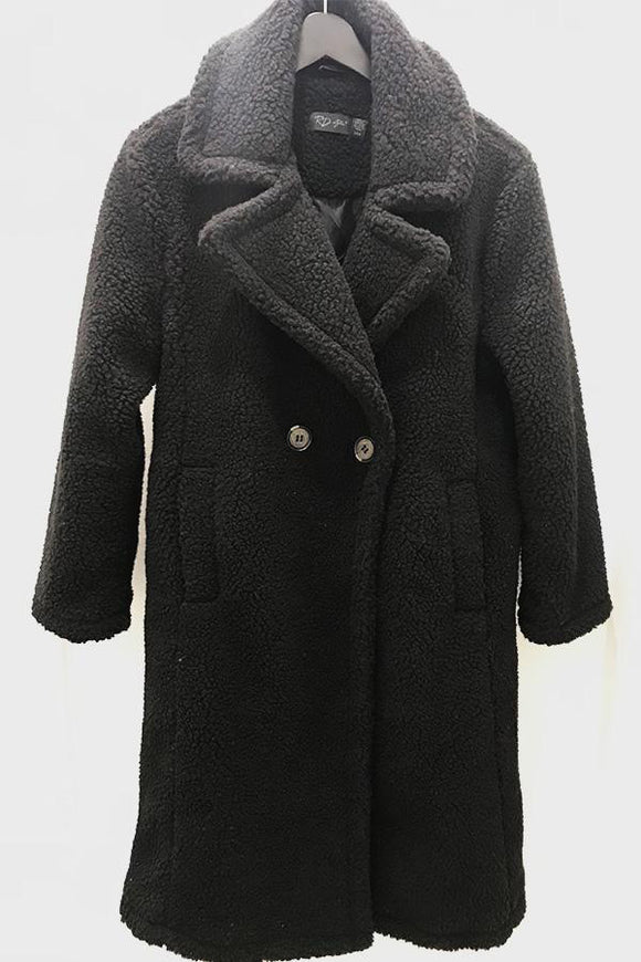 RD Style Sherpa Pea Coat