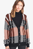 Sanctuary Carnelian Plaid Cardigan