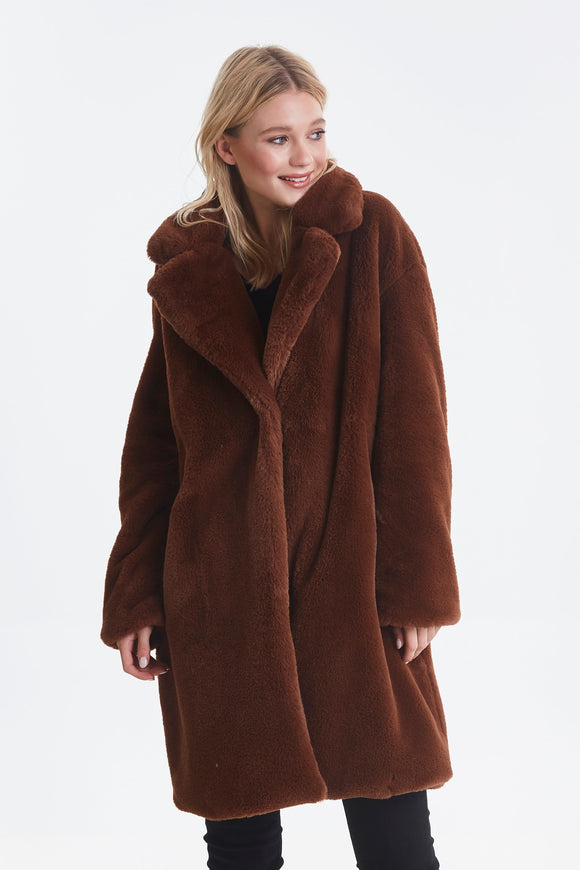 Ichi Faux Fur Kyra Coat