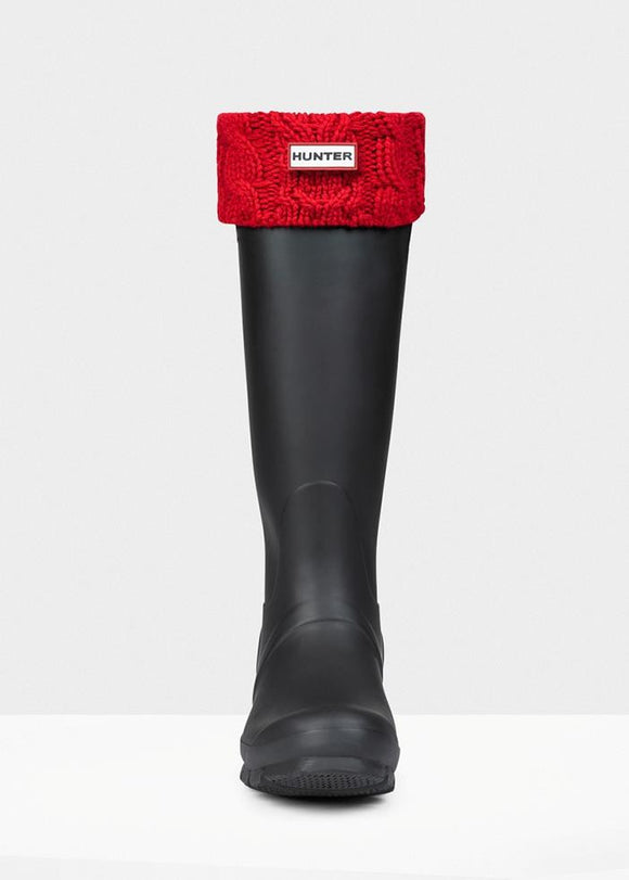Hunter Dual Cable Knit Boot Socks