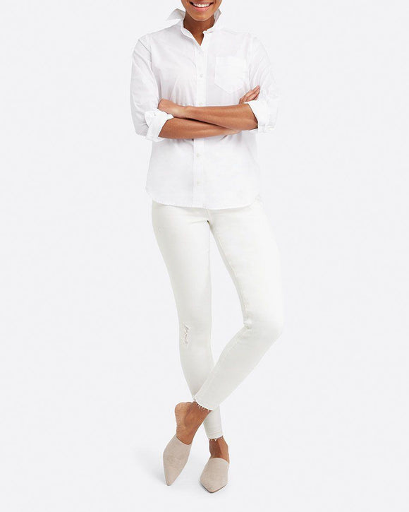 Spanx White Distressed Skinny Jeans | BK's Brand Name