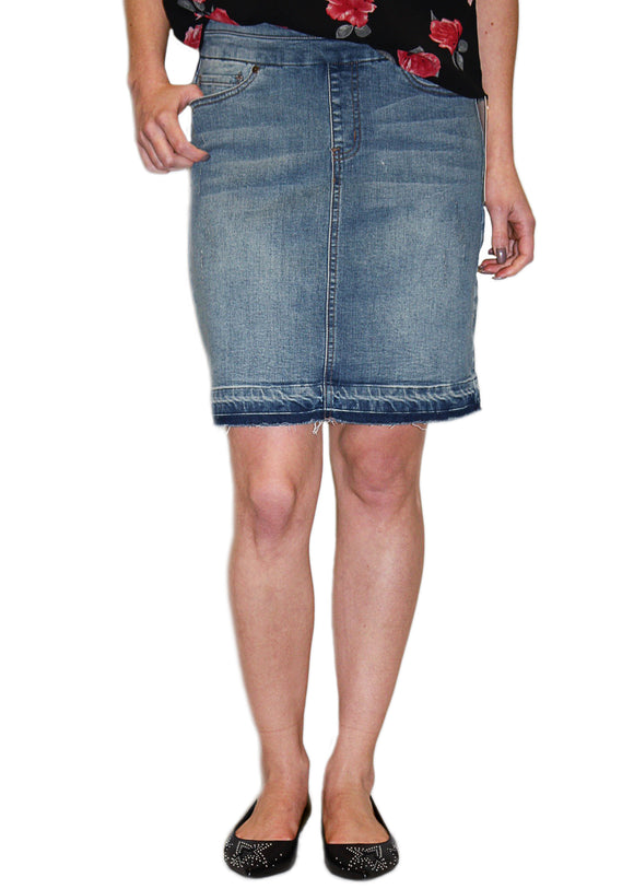 Tribal Denim Skirt
