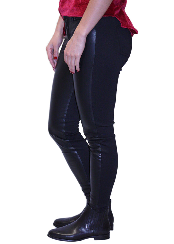 Yoga Jeans Vegan Leather/Ponte Skinny Pants