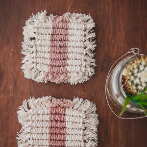 Macrame Candle Coaster