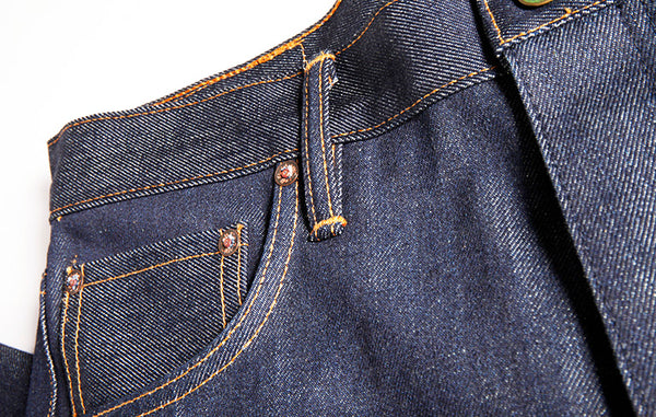 Atlas Vertical Grain 15 oz Indigo Extra Long Staple Cotton Denim - Left Field NYC