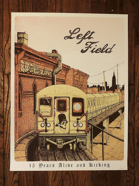 Left Field Limited Edition 15th Anniversary Poster by Neal Williams - Left Field NYC
