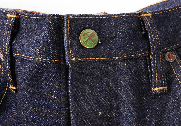 Atlas 15.5 oz Nihon Menpu denim with nep and beige weft - Left Field NYC