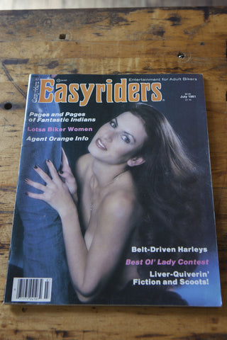 Vintage 1981 Easyriders Magazine - Left Field NYC