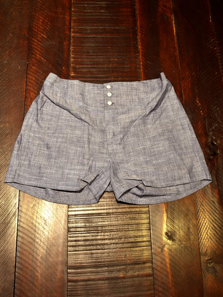Chambray 3 Button Yoke Boxer - Left Field NYC