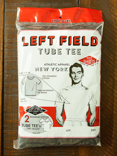 Left Field Tube Tee 2 Pack (Black Crew) *** will shrink to spec after cold wash hot dry. - Left Field NYC
