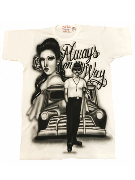 Airbrushed Always on my Way Tee - Left Field NYC