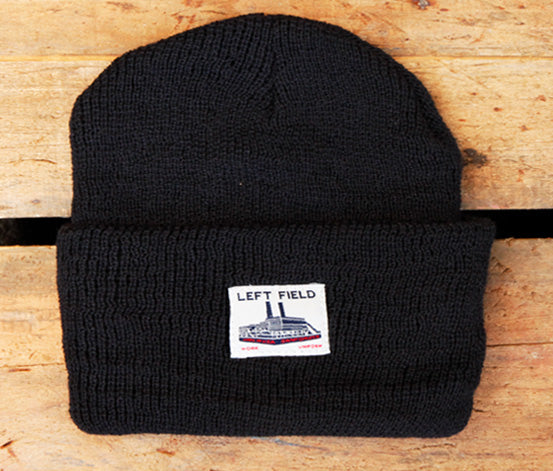 Black Wool Watch Cap - Left Field NYC