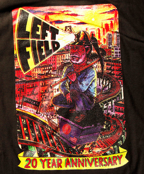 20th Anniversary Black Tube Tee *** will shrink to spec after cold wash hot dry. - Left Field NYC