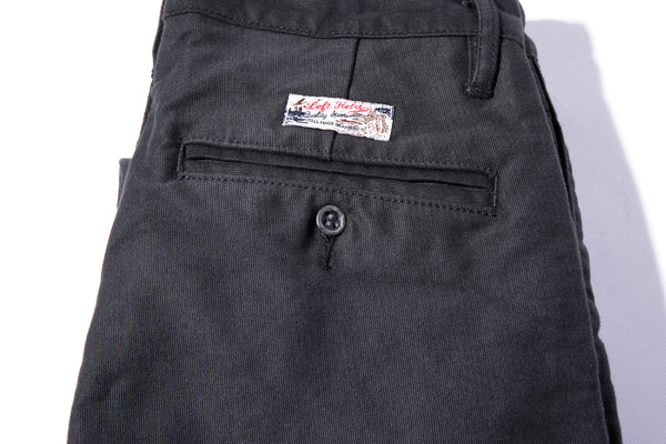 Coal Miner 15 oz Black Anthracite N1 Deck Cord Chino