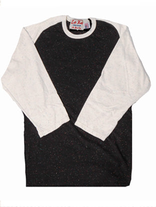 Galaxy/Confetti Nep 3/4 sleeve Raglan Tee shirt - Left Field NYC