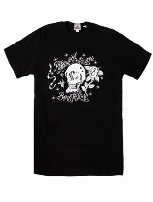 "BLACK ""BORN TO LOSE"" LF WORK UNIFORM CREW TEE - Left Field NYC"