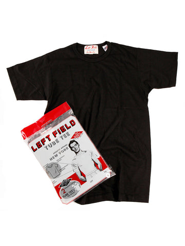 Left Field Tube Tee 2 Pack (Black Crew) *** will shrink to spec after cold wash hot dry.