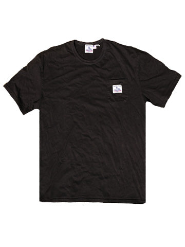 BLACK LF WORK UNIFORM POCKET TEE - Left Field NYC
