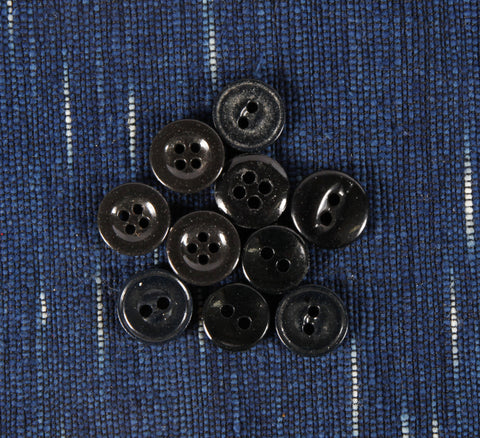 Black porcelain 4 hole button small
