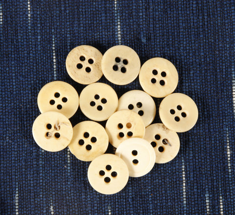4 hole Civil War era bone buttons large no rim - Left Field NYC