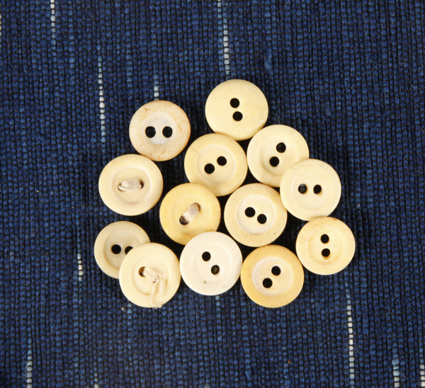 2 hole Civil War era bone buttons small