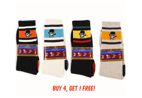 LF Tube Socks: (5 Pack) - buy 4 and get one FREE! - Left Field NYC