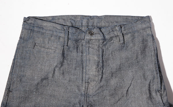 "Coal Miner Nihon 12 oz Chambray Duck Chino (running 1"" larger in the waist) slim fit - Left Field NYC"