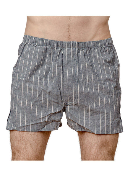 Chambray Stripe Boxer - Left Field NYC
