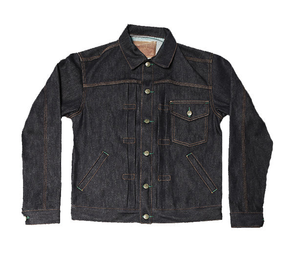 Indigo Muleskinner Denim Jacket-13 oz Cone White Oak Denim - Left Field NYC
